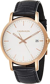 Calvin Klein K9H216C6 Mens Quartz Watch, Analog Display and Leather Strap - White