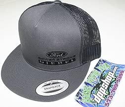 Powerstroke Trucker Flat Bill Ball Cap hat snap Back mesh Black Diesel Gear Dark Gray Embroidered