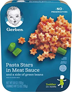 Gerber Pasta Stars in Meat Sauce and a side of Green Beans, 6.80-Ounce (Pack of 8)