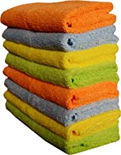 Sheen 330 GSM Microfiber Cleaning Cloth (Multicolour, 40X40 cm) Pack of 8