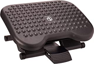 Mind Reader Comfy Adjustable Height Foot Rest, Black, 18 inches, FTREST 2