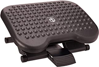 Mind Reader ' Comfy ' Adjustable Height Ergonomic Foot Rest, Blk