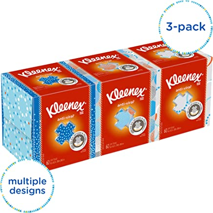 Kleenex Professional Anti-Viral Facial Tissue Cube for Business (21286), White, 3 Boxes / Bundle