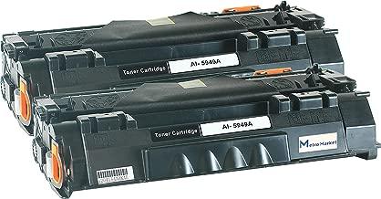 2 PC 49A Metro Market Compatible HP 49A Q5949A 53A Q7553A Toner Cartridge for HP Laserjet 1320 1320n 1320tn 1320nw HP Laserjet 3390 3392 HP Laserjet P2015 P2015dn M2727nf M2727 MFP Printer Ink