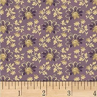Windham Fabrics Nancy Gere Shiloh C.1880 Flower Heads Fabric, Purple, Fabric By The Yard