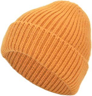 EASTER BARTHE Cashmere Blend Cuffed Beanie Hat Warm Winter Knit Beanie Skull Cap Ski Hat for Women Men