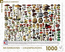 New York Puzzle Company - Mushrooms ~ Champignons - 1000 Piece Jigsaw Puzzle