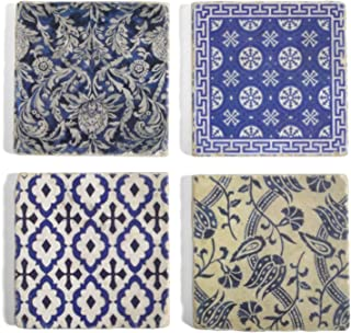 Studio Vertu Indigo Marble Coasters, Set of 4