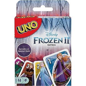Mattel Games UNO: Disney Frozen II, Juego de Cartas, Multicolor