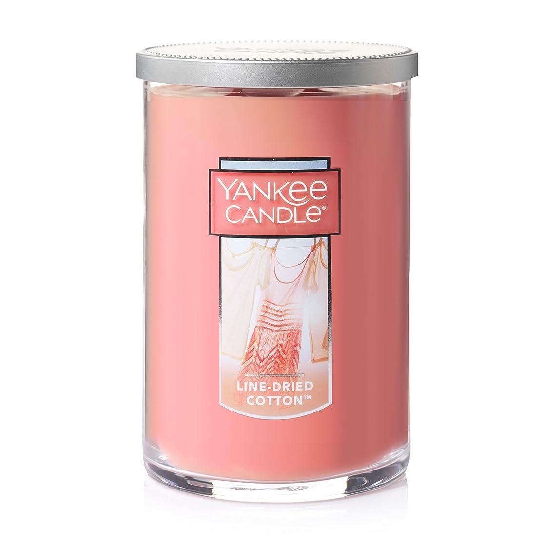 台無しに抵当シートYankee Candle Jar Candle、line-driedコットン Large 2-Wick Tumbler Candle ピンク 1351643