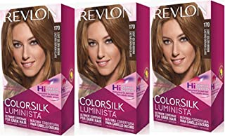 Revlon Colorsilk Luminista Haircolor, Light Golden Brown, 3 Count