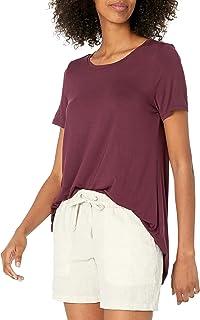 Amazon Essentials Women's Relaxed-Fit Short-Sleeve Scoopneck Swing Tee
