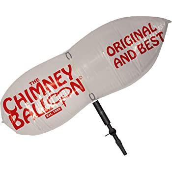 38cm x 23cm petit Chemin/ée Ballon anti-courants dair pour chemin/ée avec gratuit tube de gonflage
