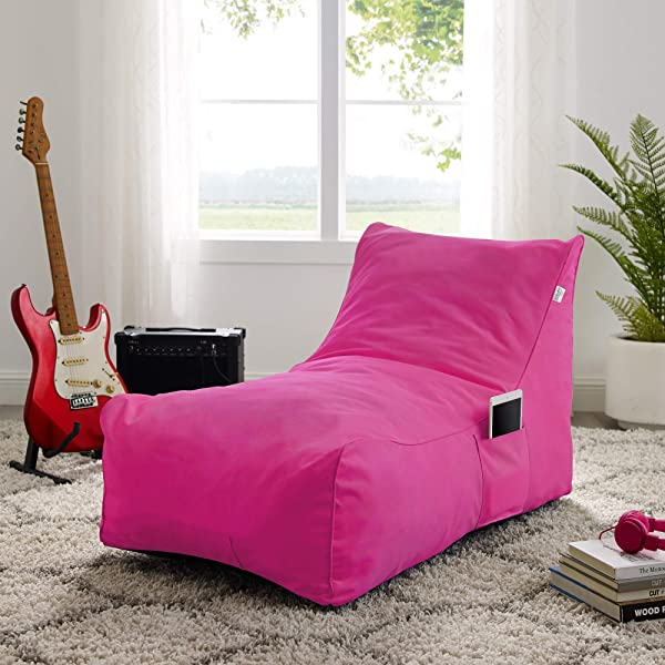 Loungie Fuchsia Memory Foam Sofa Design Resty Nylon Indoor Outdoor Self Expanding Water Resistant