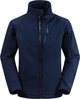 Men's Windproof Softshell Jacket Insulated Spring Autumn Outerwear