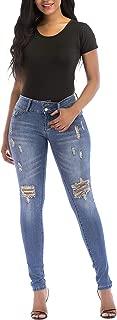 MEISITE Women's Butt-Lifting Skinny Jeans High-Rise Waist Brazilian Style