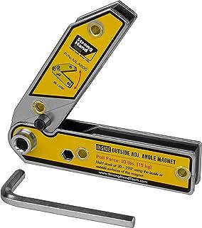 "Strong Hand Tools, Adjustable Angle Magnetic Square, 6"", Angle 30°-270°, Inside/Outside Magnets, Angle Setting Pin, Mag. P..."