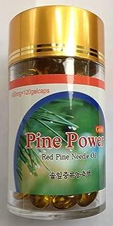 Wild Crafted Red Korean Pine Needle Oil 120 Veg Capsules