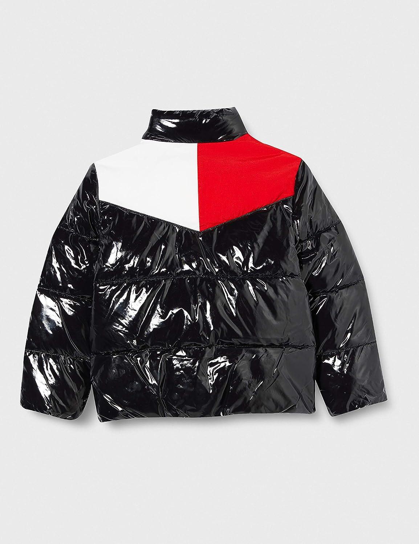 Tommy Hilfiger Girls Shiny Yoke Puffer Jacket