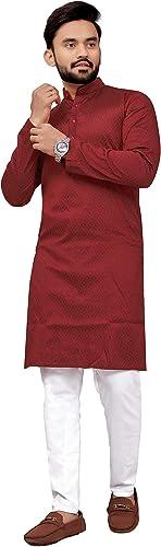 Kurta Pajama Set For Men Ethnic Wear Red
