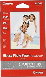Canon GP-501 - Papel fotográfico con brillo (10 x 15 cm 100 hojas uso diario)
