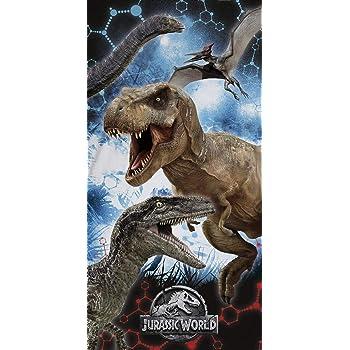 Factorycr Jurassic World Toalla playa 100/% algod/ón-2 70x140 cm