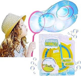 KreativeKraft Juego De Burbujas Gigantes | Conjunto De Burbujas De Jabón con Varita De Burbujas Gigante Y Liquido De Burbujas | Juguetes De Burbujas para Niños | Juguete De Jardín | Juego De Fiesta