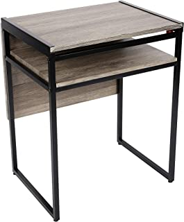 SpaceMaster SMT-08D-BL Small Space Desk and Dining Black Table, 35.4 X 29.9 X 23.6,