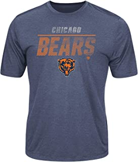 Chicago Bears Men's All The Way Heathered Navy Blue Cool Base Dri-Fit T-Shirt Small