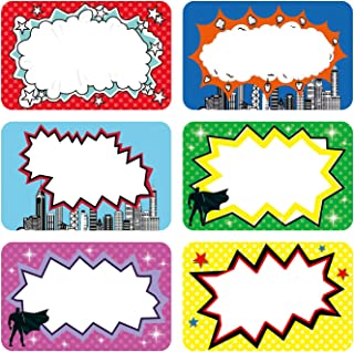 PARLAIM 180pcs Superhero Name Tag Stickers Name Tags for Kids Students and Teachers, Name Label Stickers Superhero Sticker...