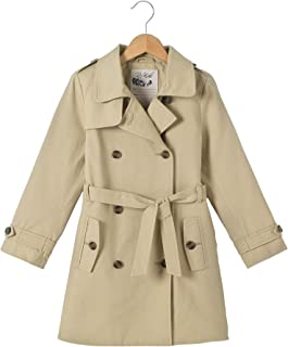 La Redoute Collections Girls Belted Cotton Twill Trench Coat, 3-12 Years