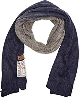 Pull & Bear Cold Weather Scarves For Women, Navy & Gray - M