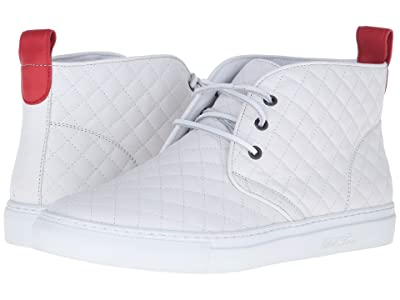 Del Toro High Top Chukka Sneaker (White Quilted) Men