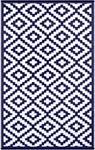 Green Decore Outdoor Patio Rug (6 X 9, Navy/White)