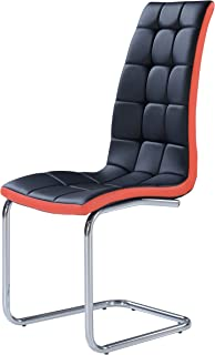 Global Furniture Dining Chairs, Black and Red, 4-Pack