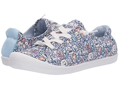 BOBS from SKECHERS Beach Bingo Woof Pack (Blue/Pink) Women