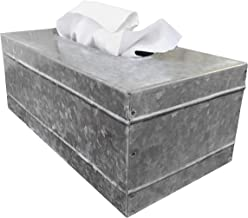 Autumn Alley Rustic Farmhouse Galvanized Rectangular Tissue Box Cover | Quality Construction | Adds The Perfect Warm Farmhouse Accent to Your Home