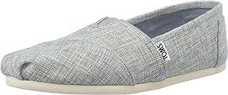 حذاء نسائي مسطح من TOMS 10010236 رمادي منقط Lurex منسوج من Alpargata