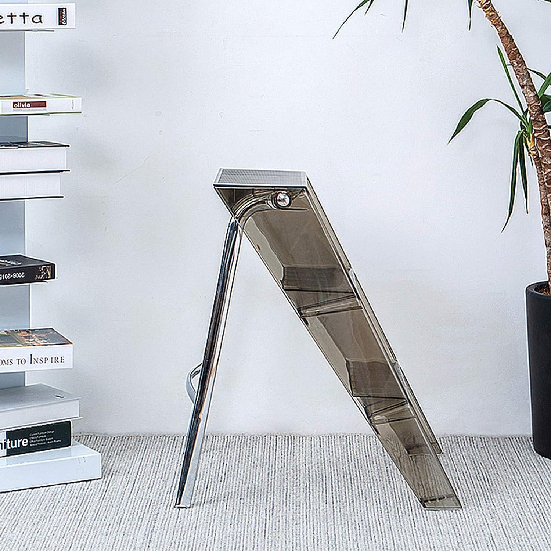 QHF 3 escabeaux avec sécurité antidérapante marchepied Tabouret Chaise Pliable échelle d'escalade Multifonction pour bibliothèque Maison Cuisine Bureau Brown