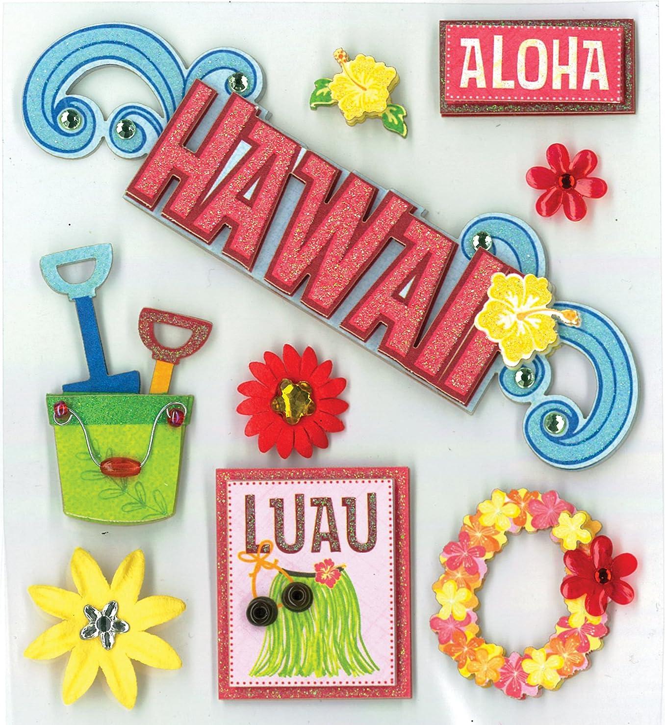 K&Company Hawaiian Bliss Grand Adhesions Stickers