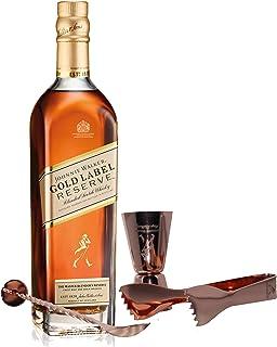 Johnnie Walker Gold Label Reserve Set mit Bar Besteck, Blended Whisky, Scotch, Alkohol, Flasche, 40%, 700 ml