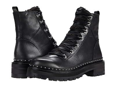 Steve Madden Rainier Hiker Bootie (Black Leather) Women