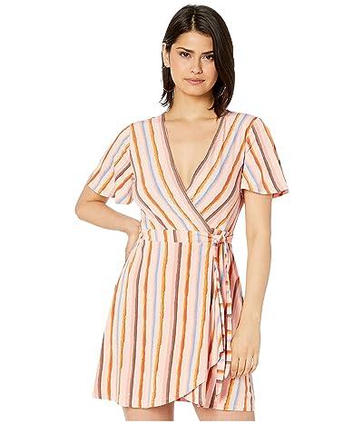 BCBGeneration Short Sleeve Wrap Dress TRW6279395 (Multi) Women