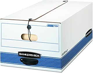 Bankers Box STOR/FILE Medium-Duty Storage Boxes, FastFold, String and Button, Legal, Case of 12 (00705)