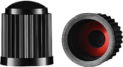 Valve-Loc Tire Valve Caps (25-Pack) Black, Universal Stem Covers for Cars, SUVs, Bike and..
