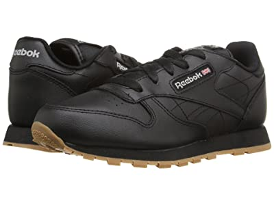Reebok Kids Classic Leather (Little Kid) (Black/Gum) Kids Shoes
