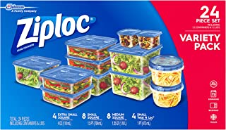 Ziploc Containers Variety Pack, 24Count