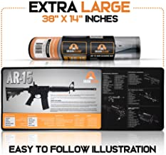 Ironclad AR 15 Gun Cleaning Mat Non-Slip and Spill-Proof Gun Mat for Rifle, Pistol, Shotgun Extra-Large Surface AR 15 Cleaning Mat (38 x 14 Inches) 3mm Thick Neoprene Gun Cleaning