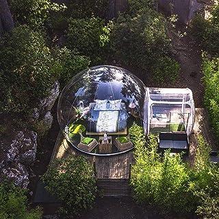 Sucastle Carpa Transparente de Burbujas inflables al Aire Libre Gazebo de visualización de un Solo túnel, Carpa Transparente para Acampar Familiar en el Patio Trasero con Ventilador