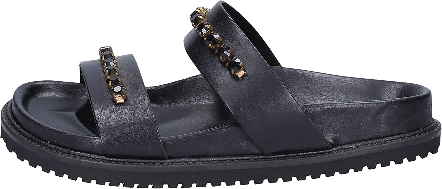 TWIN-SET Sandals Womens Leather Black